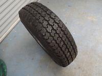 Dunlop Wrangler 205R16 Tyre on Land Rover Steel Rim
