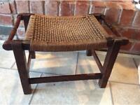 Antique old oak stool