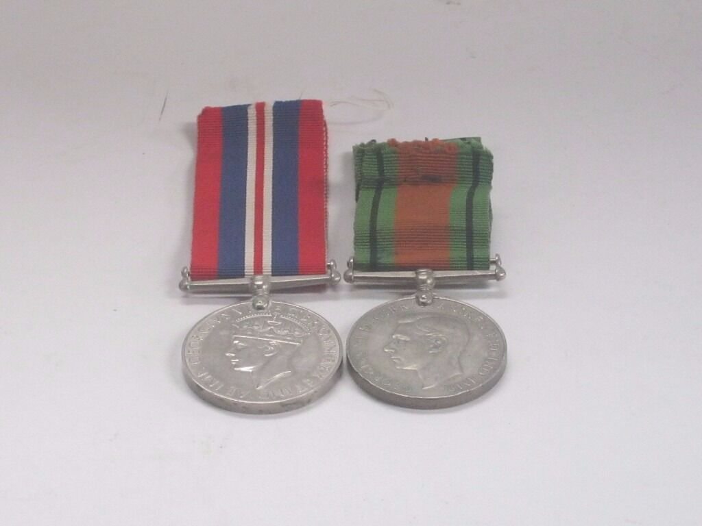 Two World War II service medals