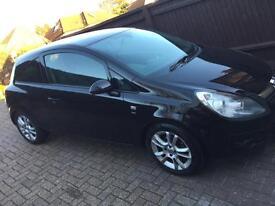 Vauxhall Corsa 1.4 SXI 2010 black three door 69,000 miles MOT September