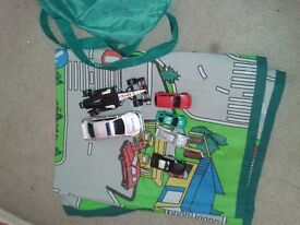 childs car mat and cars