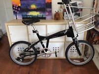 PUMA black city bicycle. With attached basket. £50