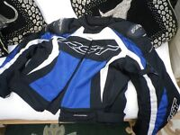RST fully Armoured bike jacket blue white and black 3xl or 42 inch chest superb condition
