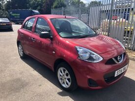 2014 Nissan Micra 1.2 Visia RED 5 DOOR PETROL MANUAL