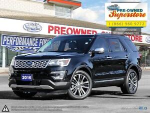 2016 Ford Explorer Platinum***NAV, 4x4, premium white leather***