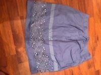 Ladies mini skirt purple colour size s