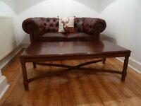 Dark wooden coffee table