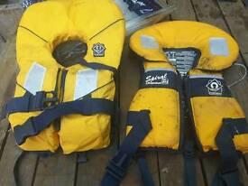 2x crewsaver Spiral kids life jackets