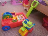 Fisher Price pull along and truck
