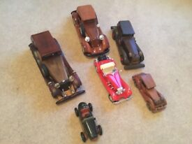 A collection of model cars