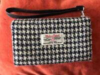 New Harris Tweed black and white dogtooth purse wallet