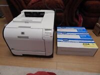 HP LASERJET PRO 400 COLOUR LASER PRINTER | WIRELESS | M451NW + 3 Toners