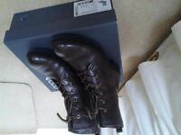 ladies brown leather ECCO ankle boots size 4/37