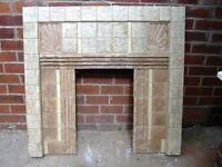 1930S tiled fire place
