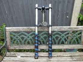 MOTORCYCLE FRONT FORKS (£35 O.N.O.)