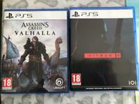 Ps5 games assassins creed Valhalla/hitman 3