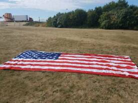 Large American wall flag