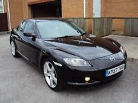 MAZDA RX-8 1.3 192 PS 2007 4DR COUPE BLACK LOW MILEAGE WITH EXTRAS+FULL SERVICE HISTORY+MOT £3250