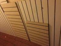 Used retail slat shop wall fitting