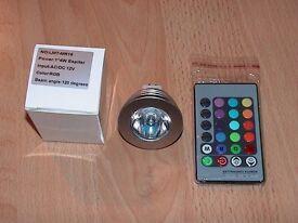 Multi colour LED bulb with remote control BRAND NEW for Biorb fish tank aquarium kol