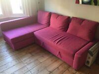 IKEA FRIHETEN cherry corner sofa bed with storage - £70