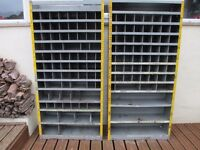 Galvanized Steel Pigeon Hole Mechanics Garage Workshop Storage Cabinet Units - Tool & Parts Racking