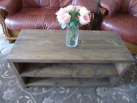 Rustic Handmade Vintage Coffee / TV Stand - Many Sizes*
