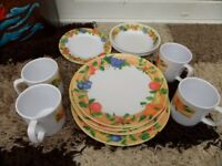 caravan or camping plates/cups/dishes
