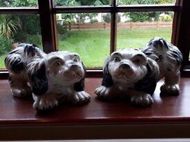 Ceramic Dog Figurines (2 pieces)