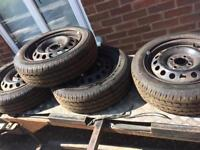 4 x165/60/14 new tyres on Nissan micra wheels