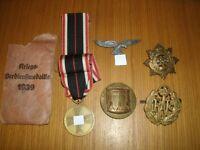 WW2 British & German Medal/Badges