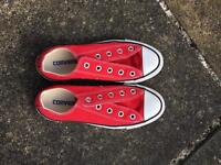Red converse all star size 4