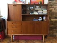 Mid Century Jentique display cabinet with storage