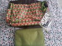 Changing bag with mat