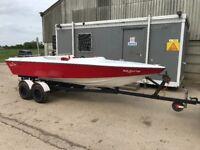 17ft Driver Speed / Ski Boat + 70hp Evinrude outboard (electric tilt/trim)