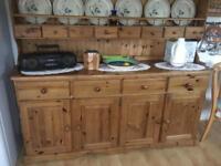 Pine welsh dresser. Two parts