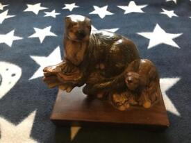 Otter ceramic sculpture by Sir Ramikins