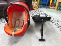 Cybex Aton Car Seat with ISOFIX - Orange - Excellent Condition