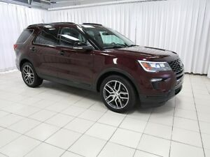 2018 Ford Explorer SPORT 4WD 7PASS WITH DVD, NAVIGATION, LEATHER