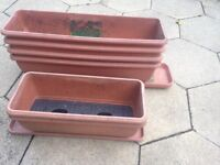 Plant pots with trays-special ones
