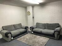SOLD PENDING!!!Grey & black Harvey's sofas 3&2 delivery 🚚 sofa suite couch furniture