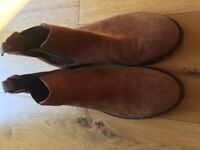 RIVER ISLAND Mens brown ankle boots - size 7.5