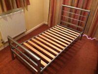 Designer aluminium single bed frame