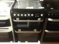 Black Hotpoint 60cm gas cooker (Duel fuel)