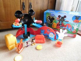 Mickey Mouse Clubhouse playset and Caravan toys with all figures