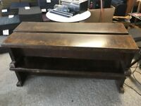 4 Vintage School Benches - Church Bench - Pew - Retro - Dark Wood