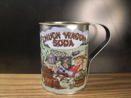 Chuck Wagon Soda Large 32oz Tin Cup Muccio Moonshine Hillbilly Art