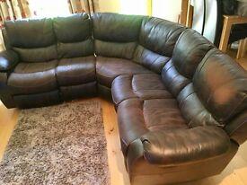 Large recliner corner group sofa