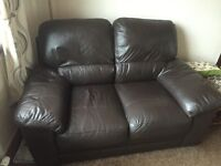 2 seater brown sofa £60