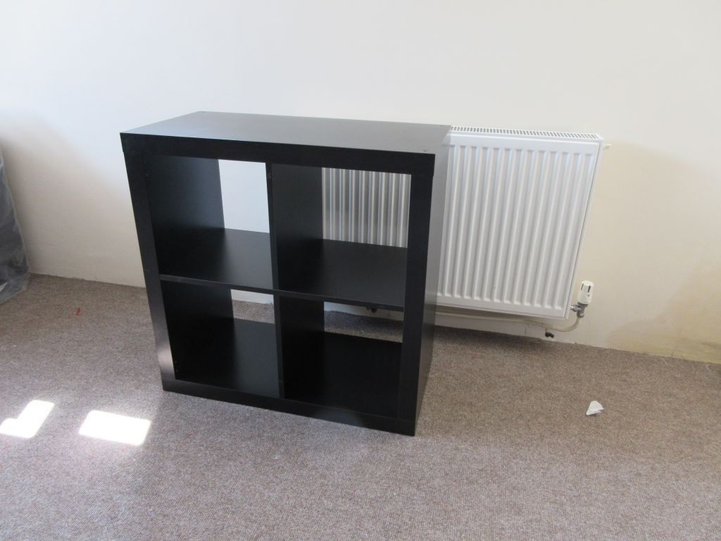 Ikea Expedit Black Brown Square Cubicle Box Shelving Unit 79cm X  # Notice Expedit